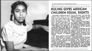 Sylvia Mendez was one of the first students of Mexican descent to attend an all-white school in California, after the Mendez v. Westminster case in 1947 ended segregation in that state, and paved the way for the rest of the country. (Photo credit: heritageandarts.utah.gov).